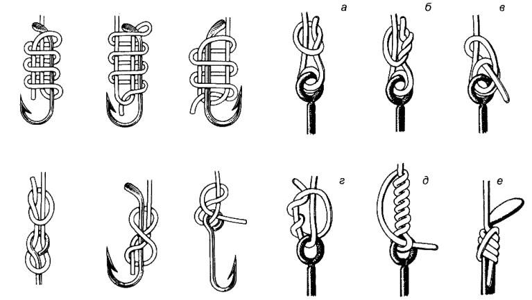 Как привязывать рыболовные крючки и поводки
